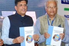"Piyush Goyal, Energy Minister of India releasing book ""Mainstreaming Sustainable Development"" during the Energy Conclave : Power for India"" at Kolkata on 28th August, 2015"