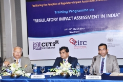 "On the occasion of ""Training Programme on Regulatory Impact Assessment in India at New Delhi on 25th-26th March 2015."
