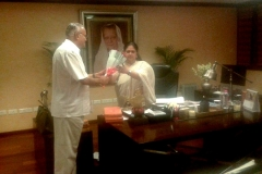 Meeting with Vasundhara Raje, Chief Minister of Rajasthan,at Secretariat, Government of Rajasthan, Jaipur on September 19, 2014