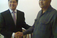 Meeting the new Ambassador of China, Le Yucheng at New Delhi on September 24, 2014