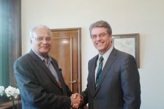 On the occasion of Meeting with Roberto Azevêdo Director-General of the WTO at Geneva, on June 19, 2014