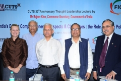 "On the Occasion of 17th CUTS 30th Anniversary Lecture by Rajeev Kher on ""India's Export Competitiveness, Prospects & Challenges: The Role of Trade Policy"" at New Delhi, on April, 2014"