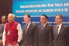 On the occasion of launch of the project, 'Bangladesh-Bhutan-India-Nepal Motor Vehicles Agreement: Facilitating implementation and stakeholder buy-in in the BBIN sub-region' at Kolkata on February 16-17, 2017