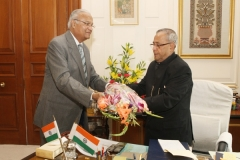 On the occasion of Meeting with Pranab Mukherjee, President of India, at New Delhi on February 19, 2013