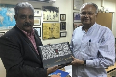 With Chandmal Kumawat Chairman at Maneesh Media Agency