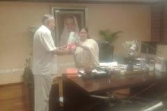 With Vasundhara Raje at Secretariat, Government of Rajasthan