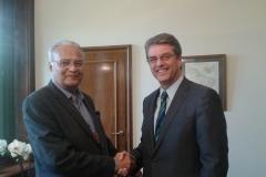 Meeting Roberto Azevedo, DG WTO at his office in Geneva